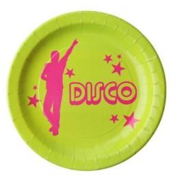 10 Assiettes disco party