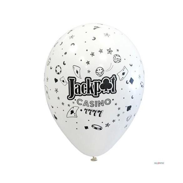 10 ballons Casino 30cm