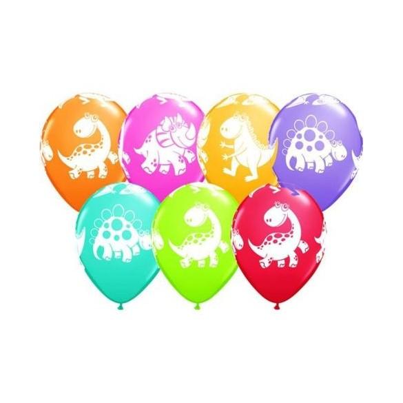 10 ballons dinosaures rigolo