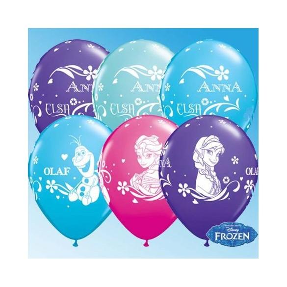 10 ballons princesse des neiges