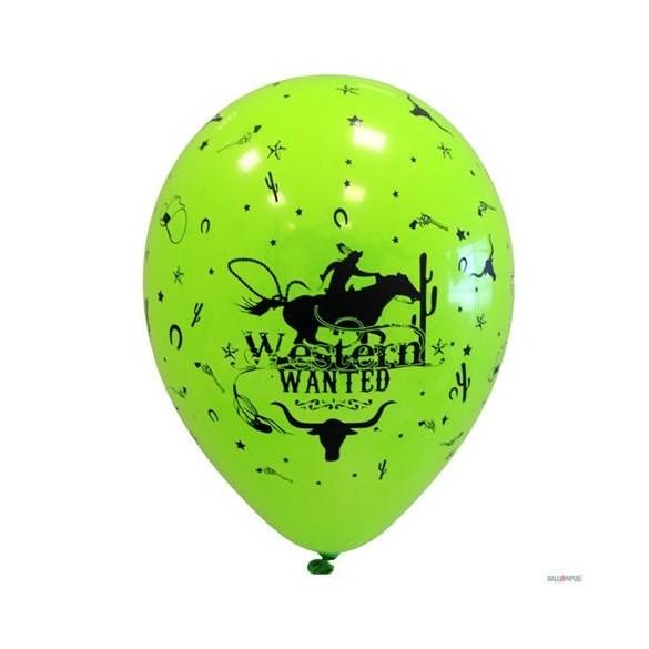10 Ballons western 30cm