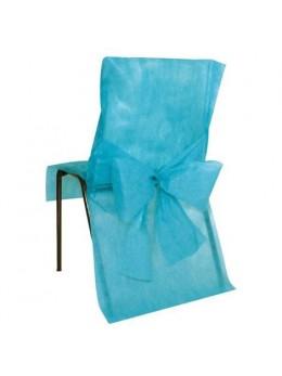 10 Housses de chaises turquoise promo