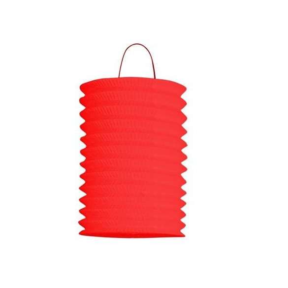 12 Lampions cylindriques rouge 13cm