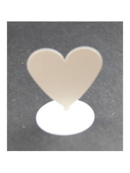 12 Marques places coeur aimanté blanc