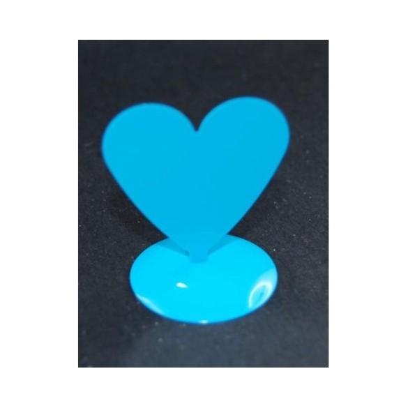 12 Marques places coeur aimanté turquoise