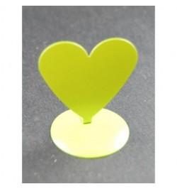 12 Marques places coeur aimanté vert anis