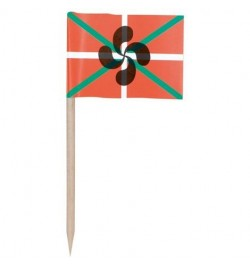 144 mini drapeaux Pays basque