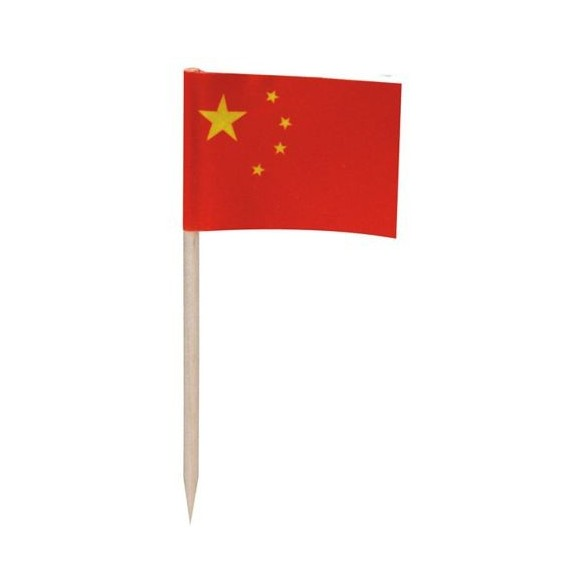 50 mini drapeaux chine