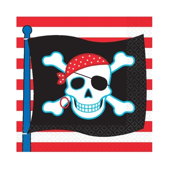 16 Serviettes lunch Pirate