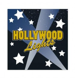16 Serviettes PM hollywood lights