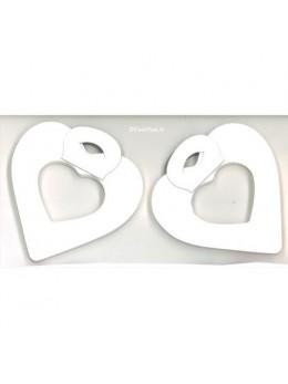 2 petites guirlandes coeur Blanc
