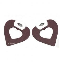 2 petites guirlandes coeur chocolat
