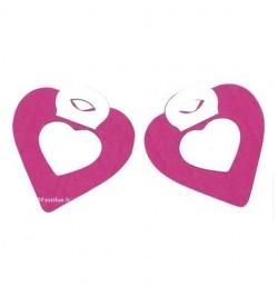 2 petites guirlandes coeur fuchia