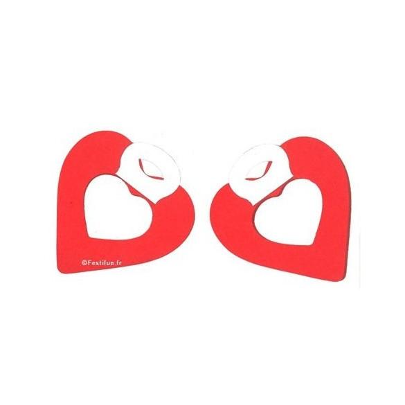 2 petites guirlandes coeur rouge
