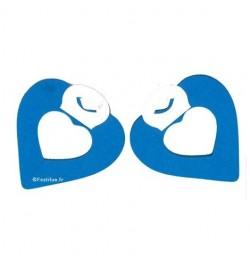 2 petites guirlandes coeur turquoise