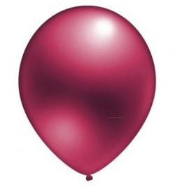 24 ballons bordeaux nacrés