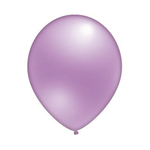 24 ballons lilas nacrés