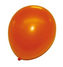 24 ballons orange nacrés