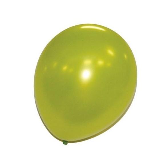 24 ballons vert pomme nacrés
