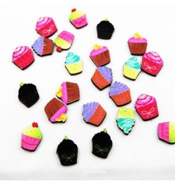 24 confetti de table cupcake