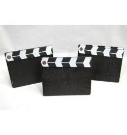 3 claps de film déco 9cm