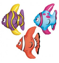 3 Poissons gonflable