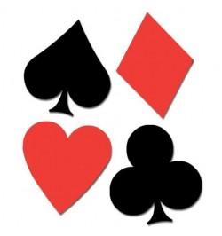 4 Cutout trèfle carreau pique et coeur