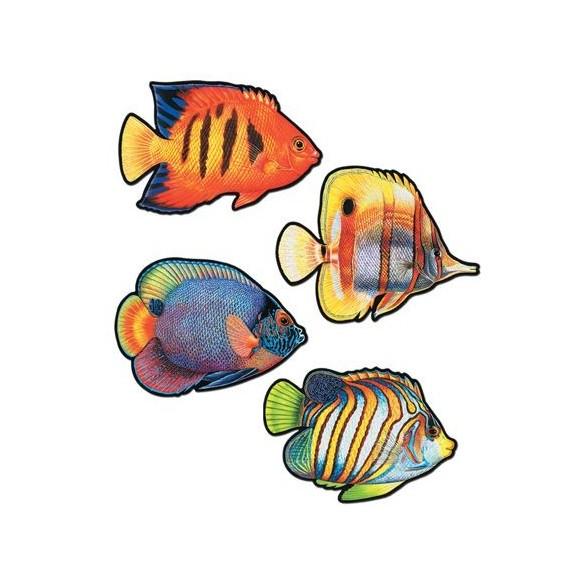 4 Décos poissons exotique