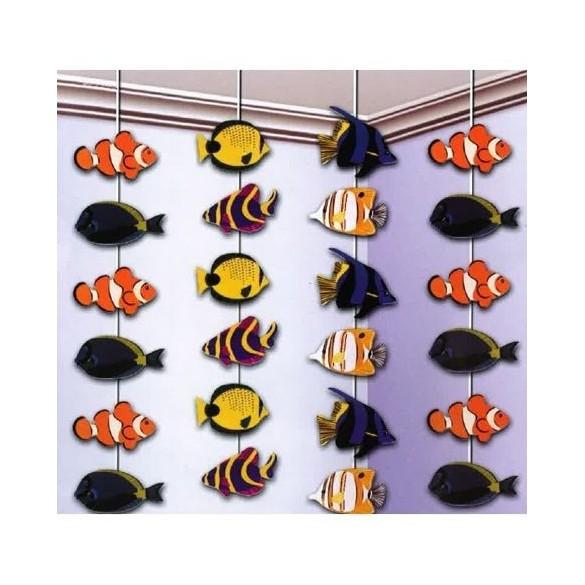 4 guirlandes poissons 2m