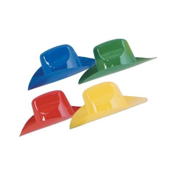 4 Mini Chapeaux cowboy plastique