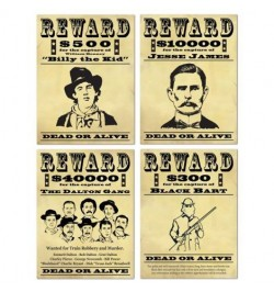 4 Wanted sign