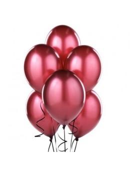 50 ballons bordeaux nacrés