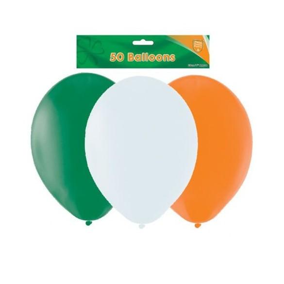 50 ballons couleurs irlande