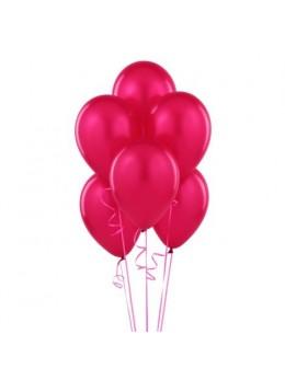 50 ballons fuchsia nacrés
