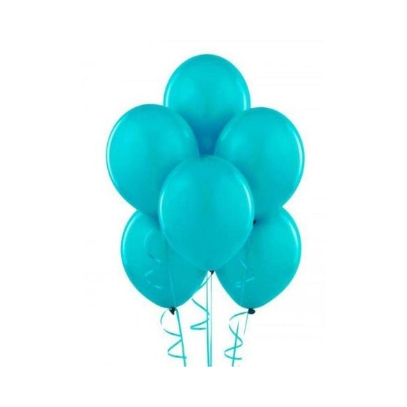 50 ballons turquoise