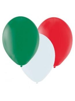 50 ballons Vert blanc rouge Italie