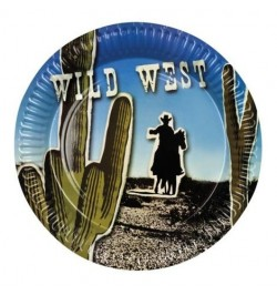 6 Assiettes cactus wild west