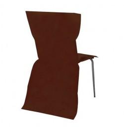 6 Housses de chaises chocolat