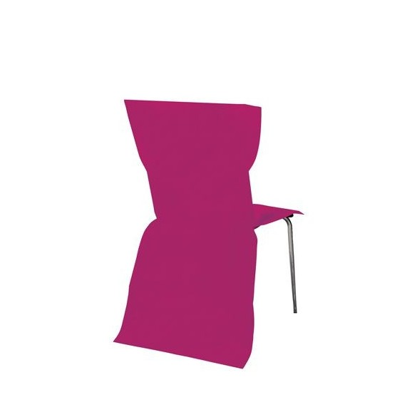 6 Housses de chaises fuchsia