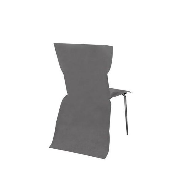 6 Housses de chaises gris foncé