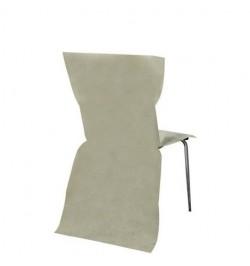6 Housses de chaises ivoire