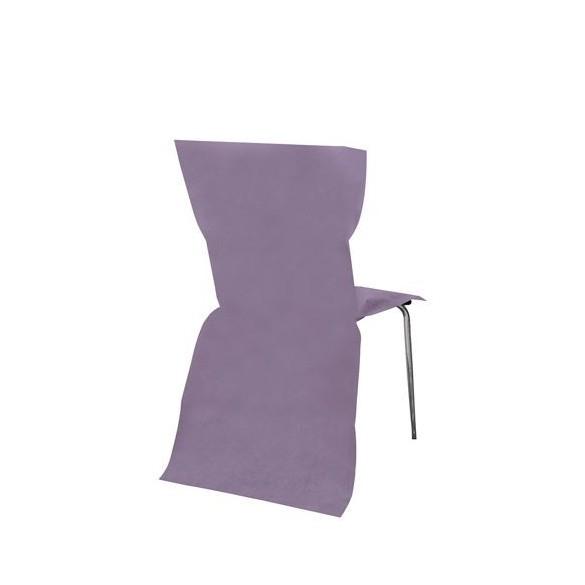 6 Housses de chaises parme