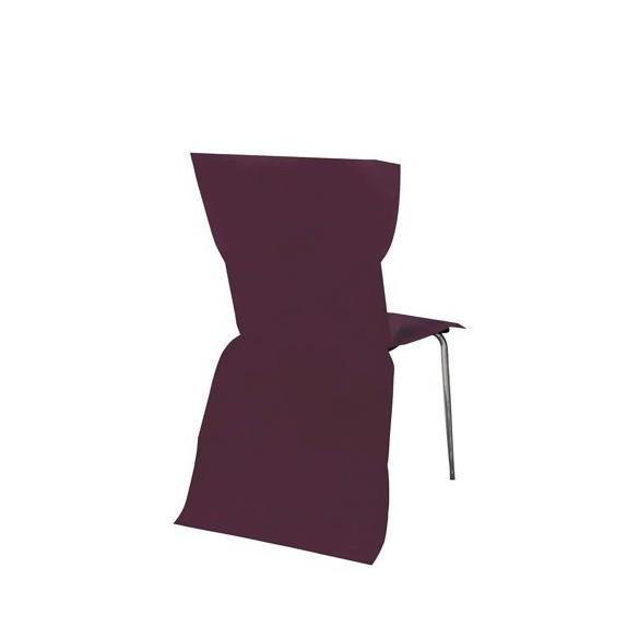 6 Housses de chaises prune
