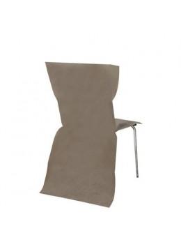 6 Housses de chaises taupe