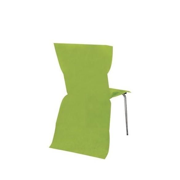 6 Housses de chaises vert anis
