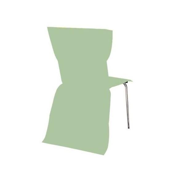 6 Housses de chaises vert pastel