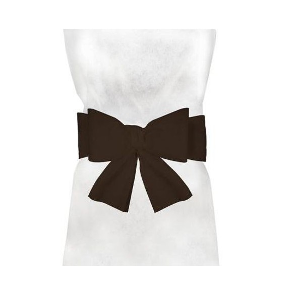 6 Noeuds pour housse de chaise chocolat