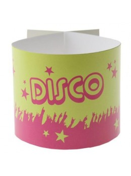6 Ronds de serviettes disco