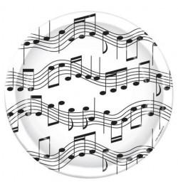 8 Assiettes à dessert musique