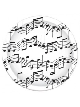8 assiettes notes de musique GM